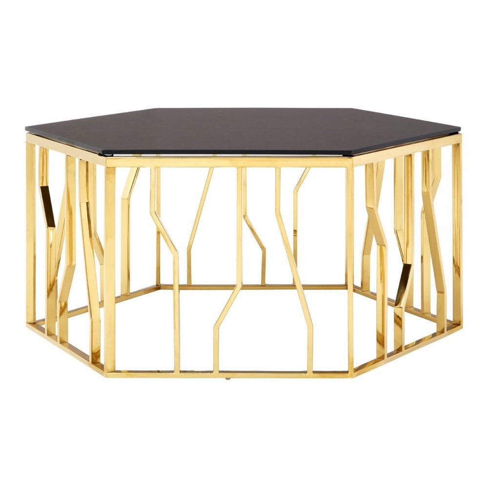 Glass Hexagon Coffee Table 9