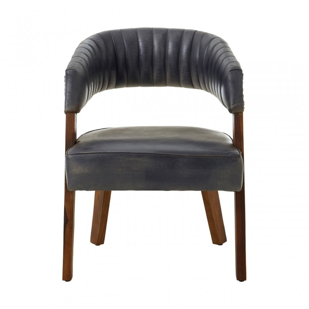 Superb Clanbay Buffalo Antique Brown Leather Wood Chair Goat Leather Iron Blue Inzonedesignstudio Interior Chair Design Inzonedesignstudiocom