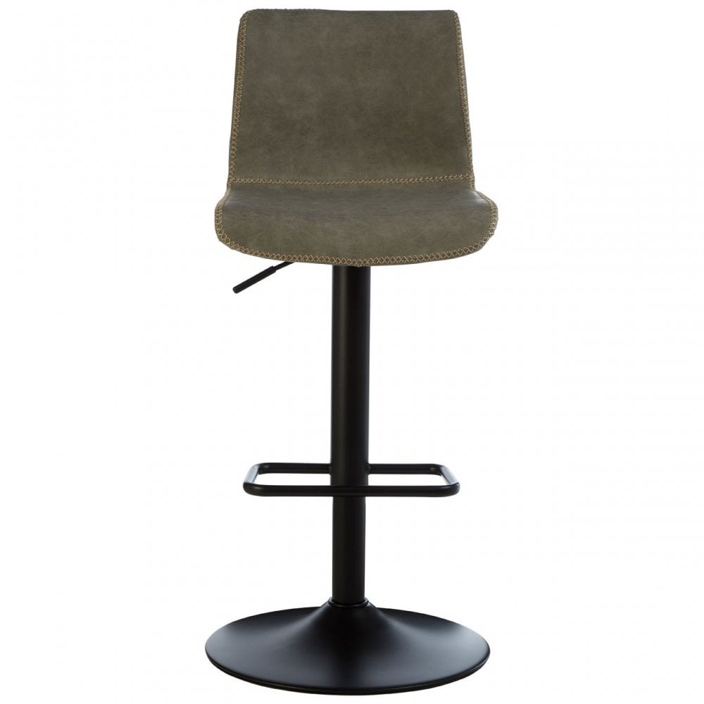 Dalston Vintage Ash Adjustable Bar Stool Powder Coated