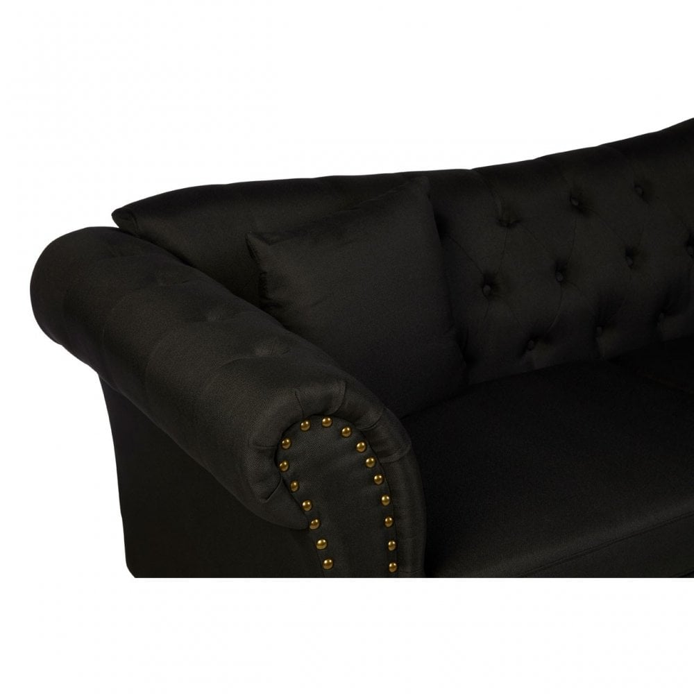 Magnificent Clanbay Fable 3 Seat Black Chesterfield Sofa Eucalyptus Wood Sponge Wood Black Pdpeps Interior Chair Design Pdpepsorg