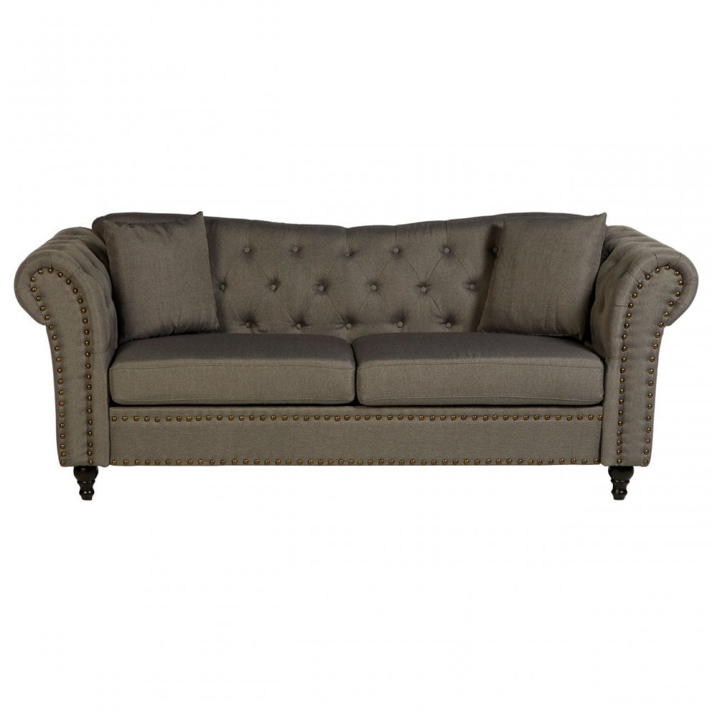 Phenomenal Clanbay Fable 3 Seat Grey Chesterfield Sofa Eucalyptus Wood Sponge Wood Grey Ibusinesslaw Wood Chair Design Ideas Ibusinesslaworg