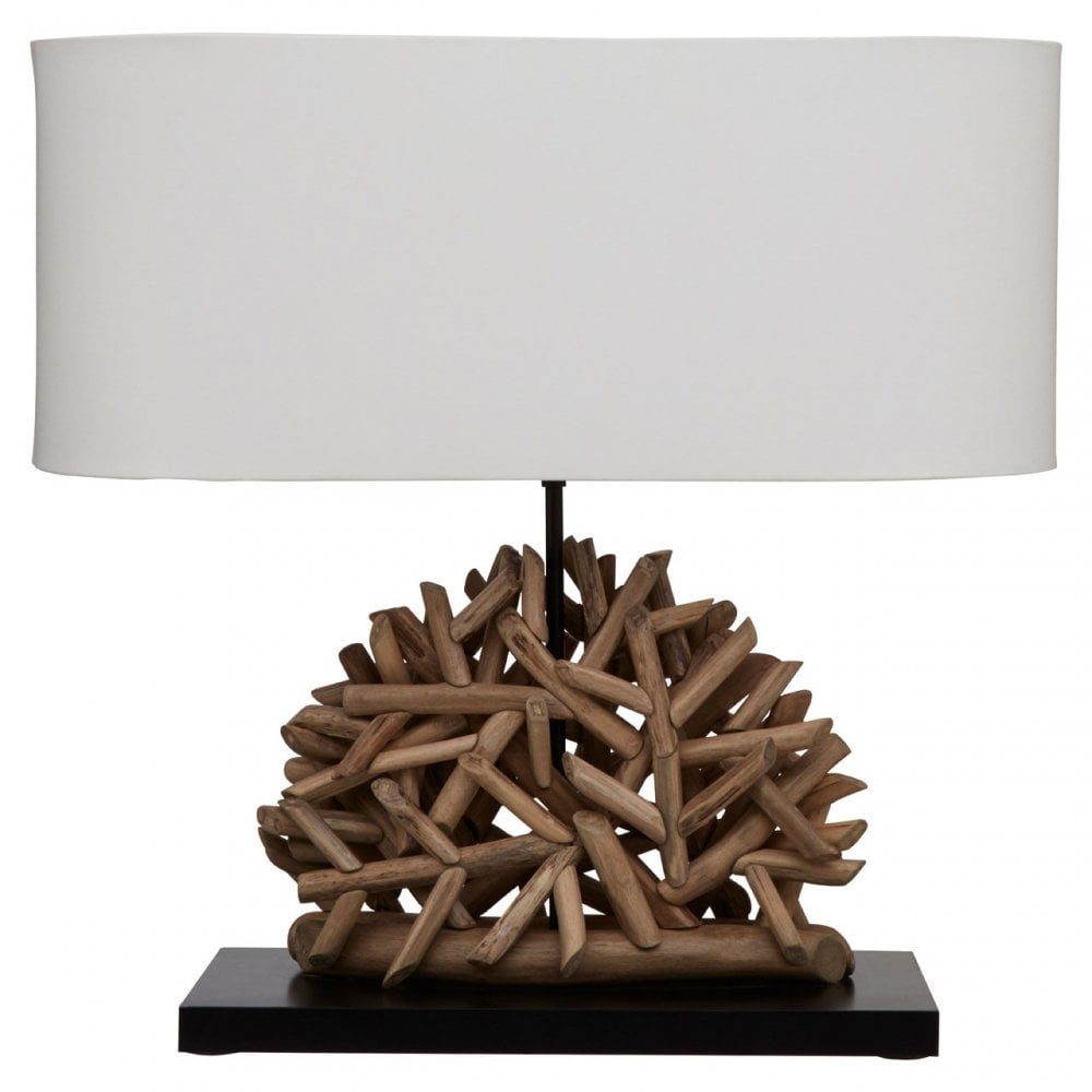 Festuel Oval Table Lamp With Twig Base