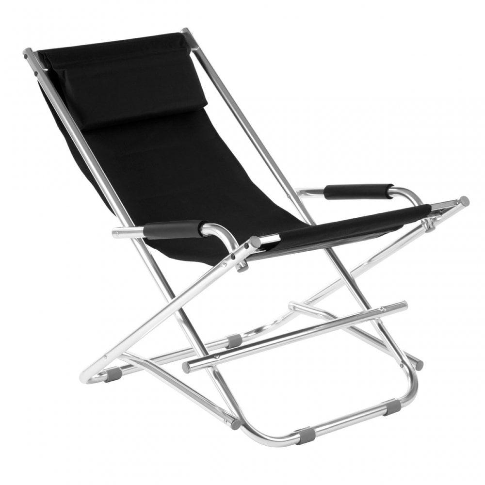 Pleasant Clanbay Folding Garden Chair Aluminium Black Ncnpc Chair Design For Home Ncnpcorg