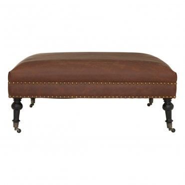 Excellent Leather Pouffes And Foot Stools Gmtry Best Dining Table And Chair Ideas Images Gmtryco