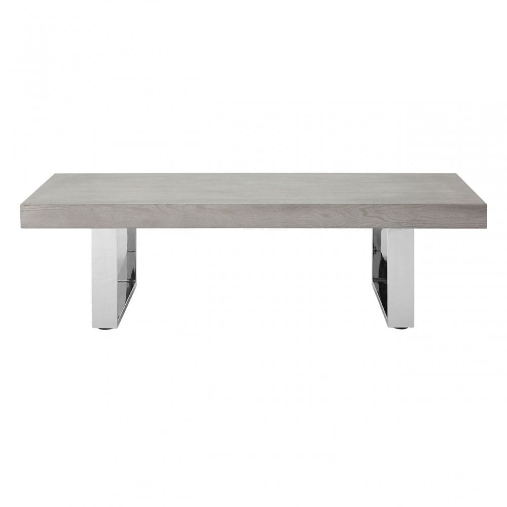 Stupendous Clanbay Grey Elm Wood Coffee Table Stainless Steel Elm Wood Grey Onthecornerstone Fun Painted Chair Ideas Images Onthecornerstoneorg