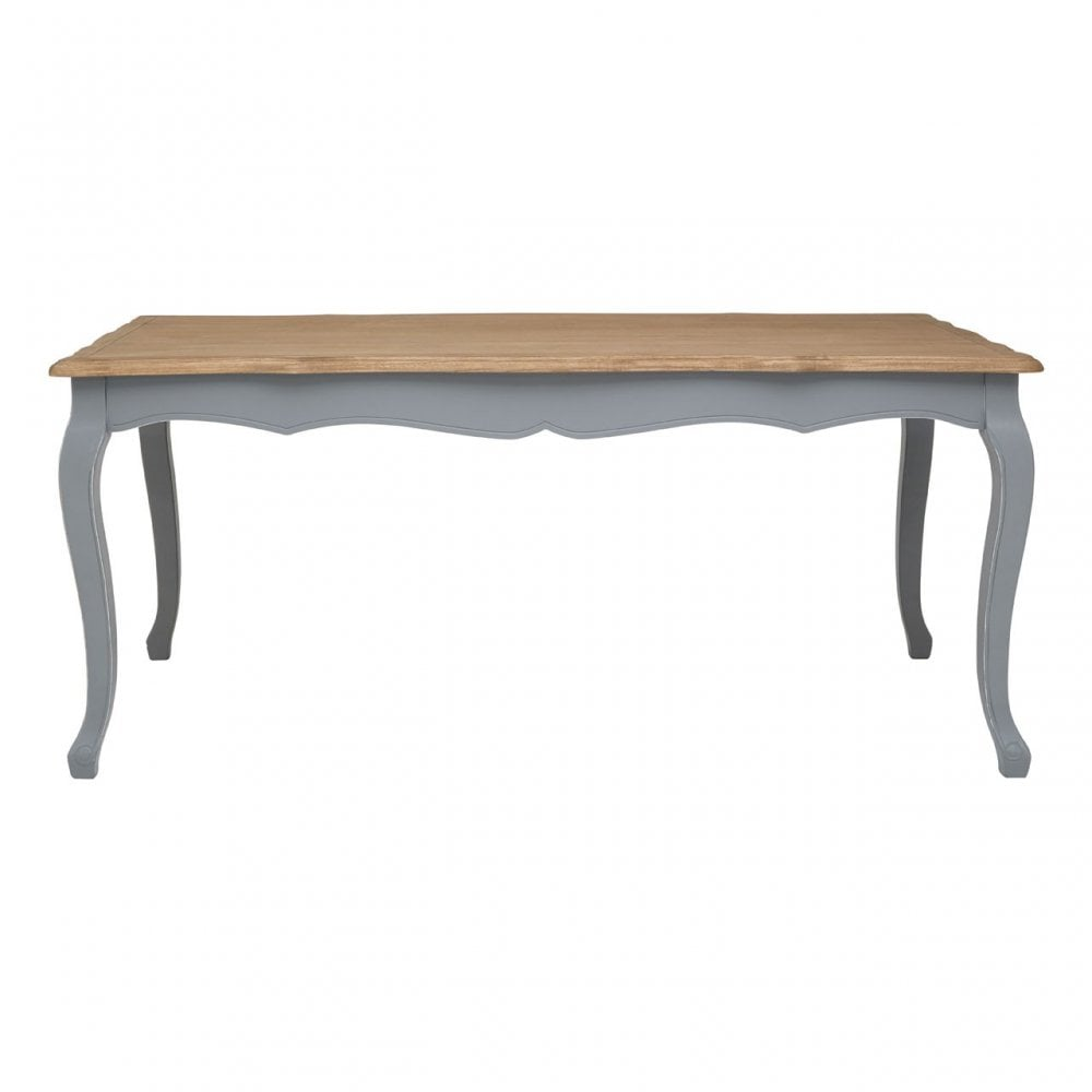 Clanbay Henley Antique Grey Dining Table Paulownia Wood Pine