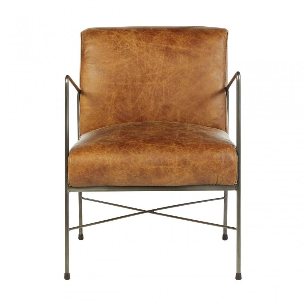 Super Clanbay Hoxton Light Brown Leather Dining Chair Leather Iron Brown Cjindustries Chair Design For Home Cjindustriesco