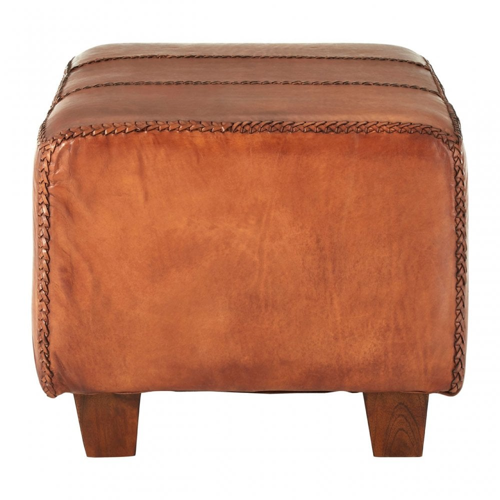 Marvelous Clanbay Inca Antique Brown Leather Bench Leather Teak Brown Pdpeps Interior Chair Design Pdpepsorg