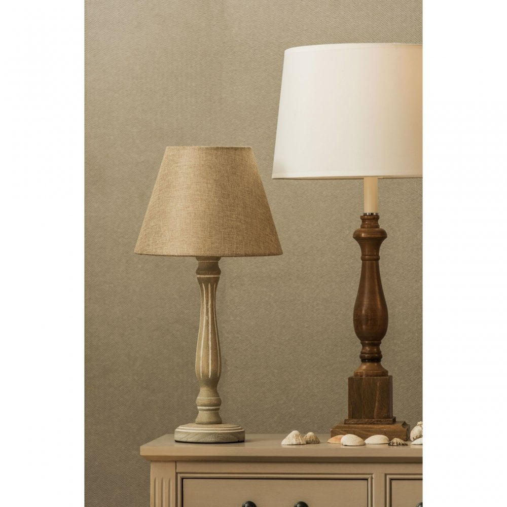 Maine Candlestick Table Lamp, Fabric