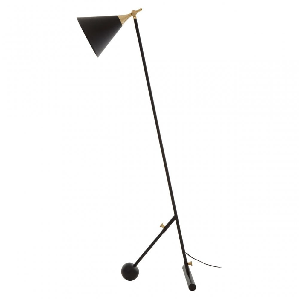 Mano Black Andamp Gold Floor Lamp