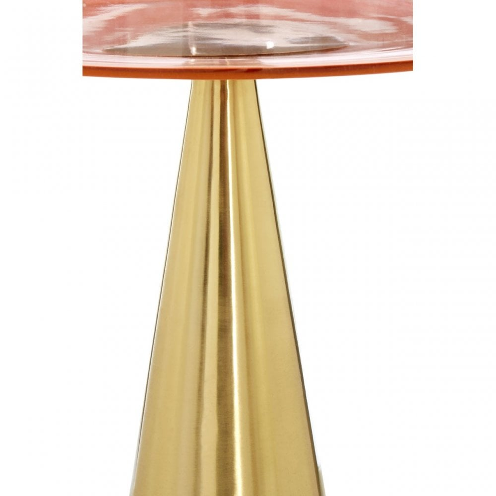 Martini Side Table Gold Pink