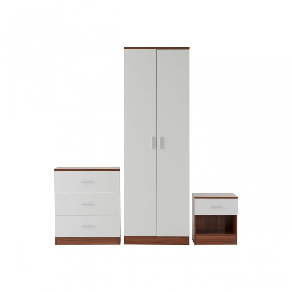 Clanbay Montana Bedroom Set Melamine Particle Board White