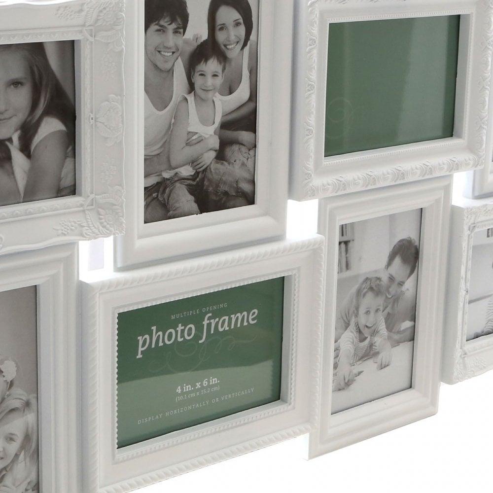Multi Photo Frame White Clanbay