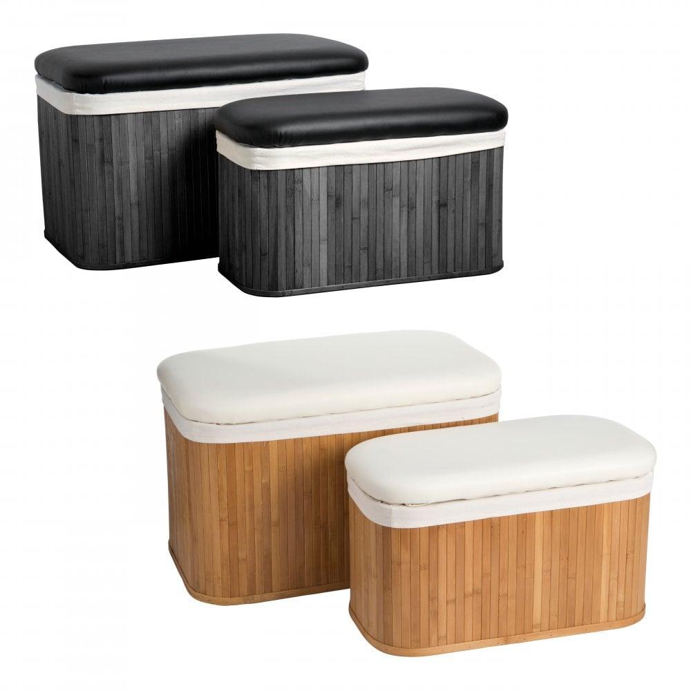 Super Clanbay Ottoman Storage Bamboo Canvas Natural Inzonedesignstudio Interior Chair Design Inzonedesignstudiocom