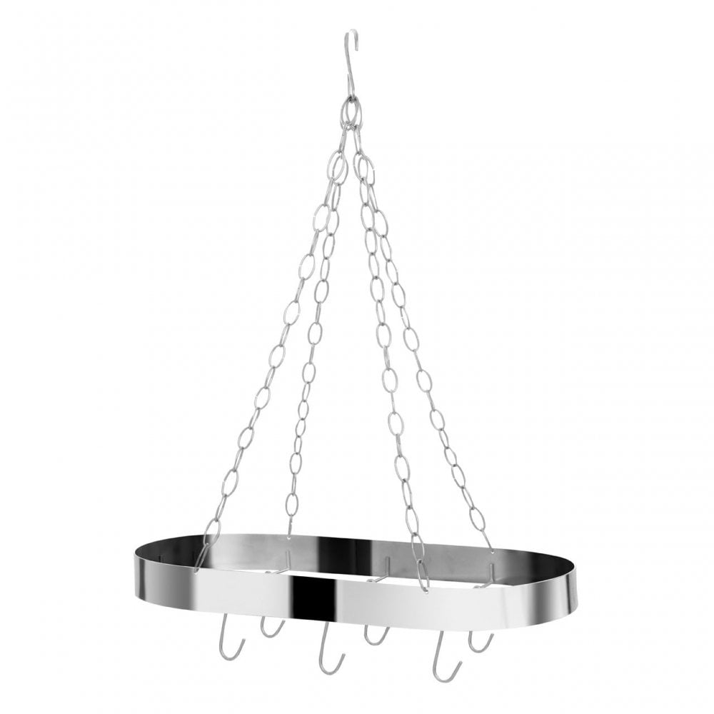 Oval Ceiling Rack Chrome Silver Clanbay