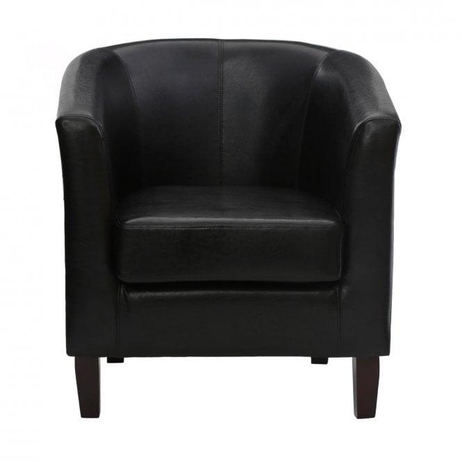 Pleasing Clanbay Regents Park Tub Chair Leather Rubberwood Brown Creativecarmelina Interior Chair Design Creativecarmelinacom