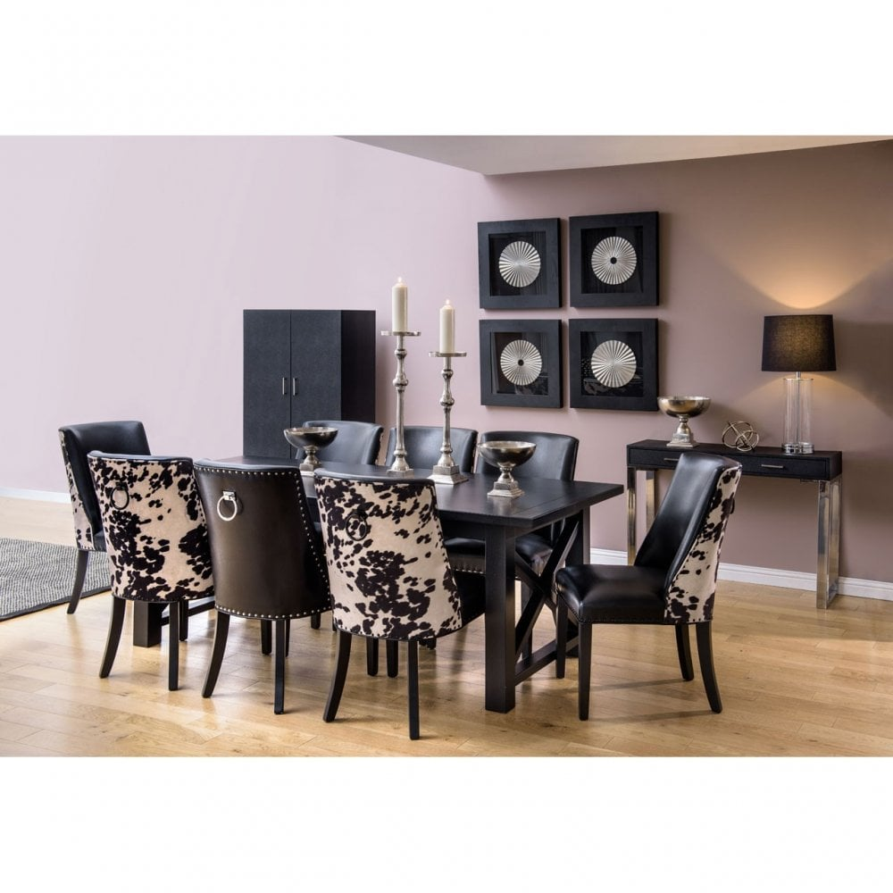 Phenomenal Clanbay Rodeo Dining Chair Birchwood Leather Effect Black Gamerscity Chair Design For Home Gamerscityorg
