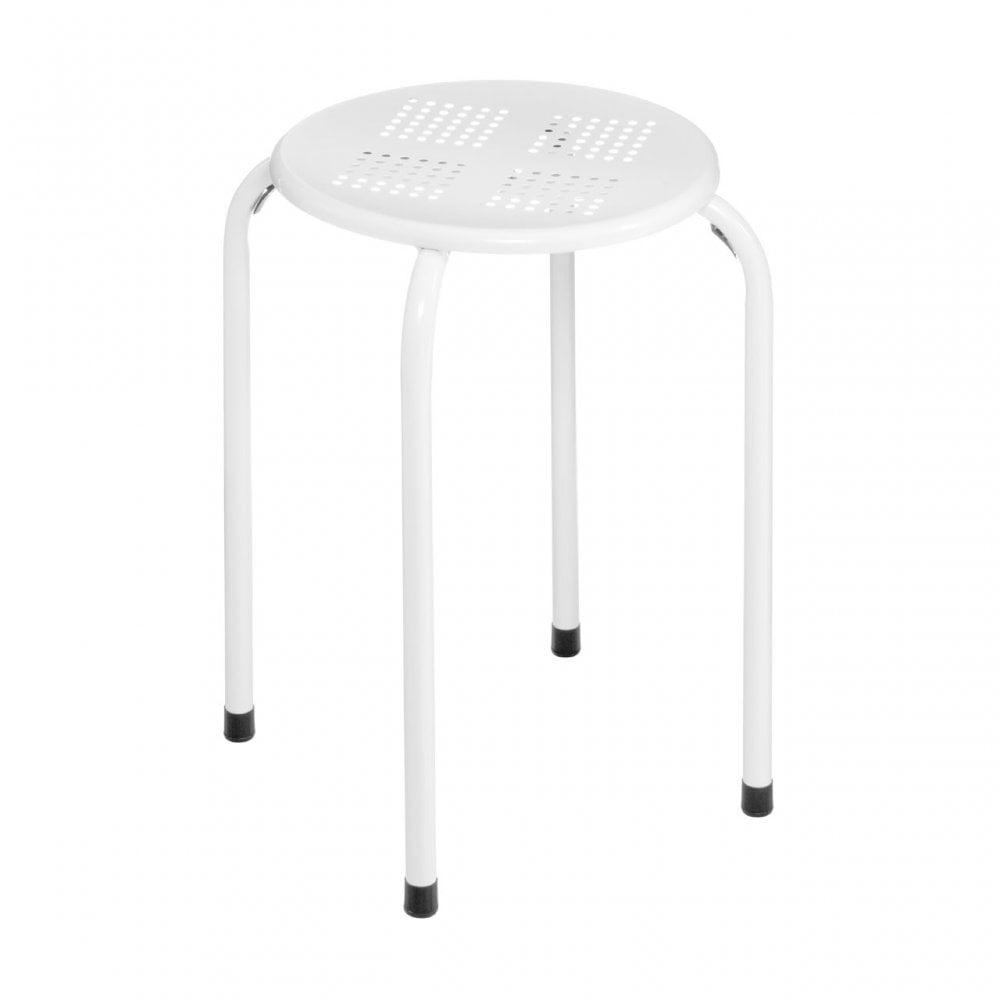 Surprising Clanbay Stacking Stool Powder Coated Metal White Uwap Interior Chair Design Uwaporg