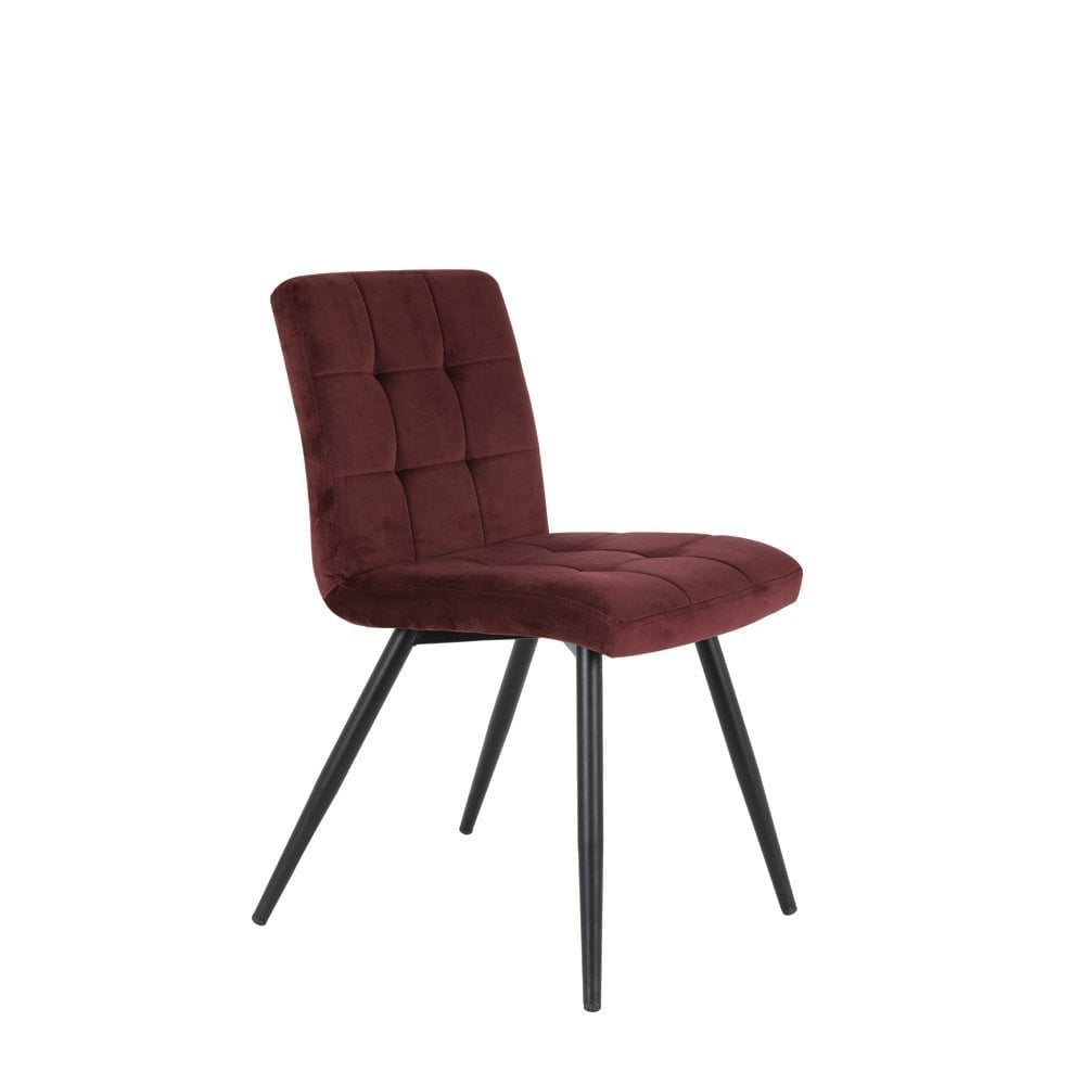 Dining Chair 49x57x84cm Olive Velvet Burgundy | Clanbay
