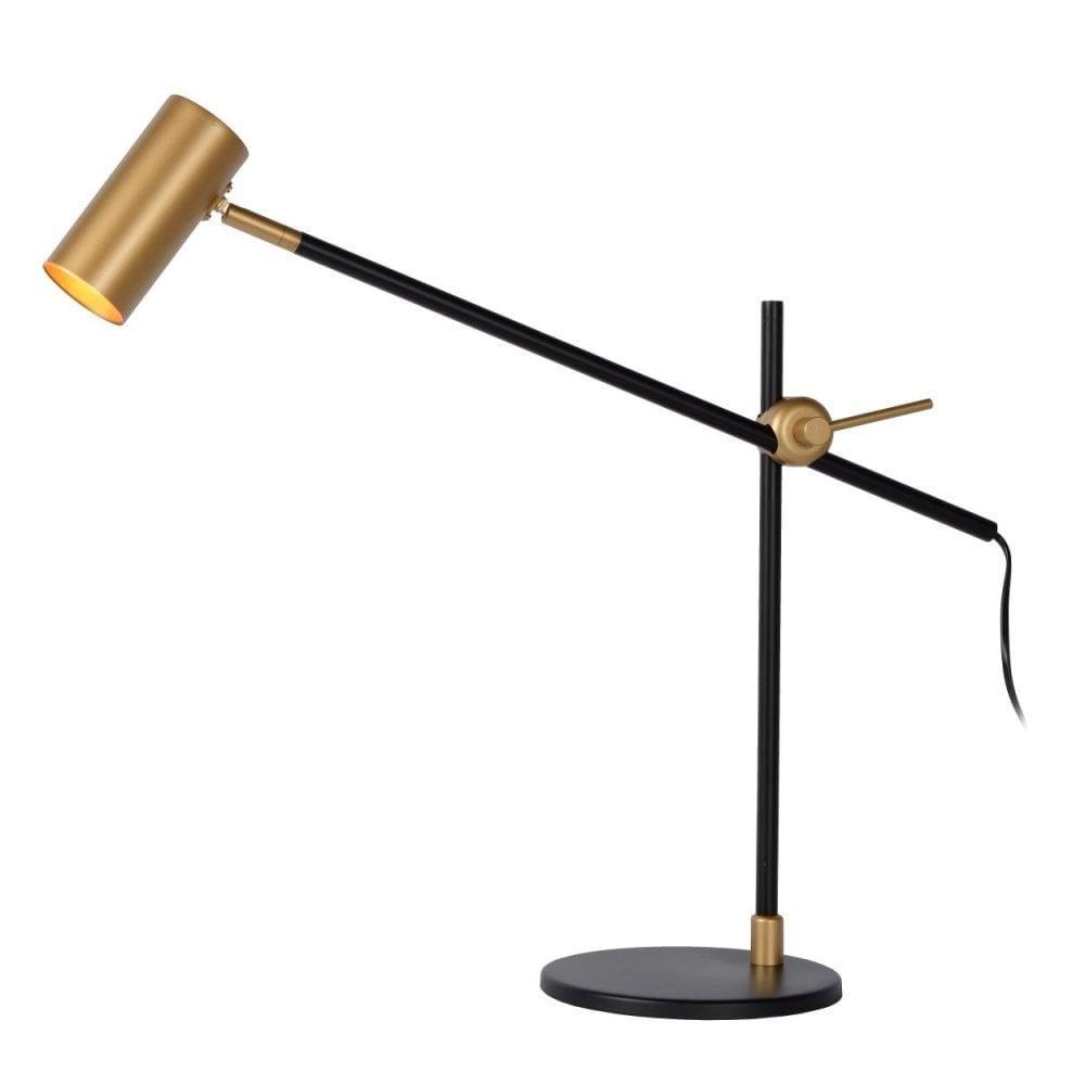 Philine Vintage Steel Black and Gold Desk Lamp